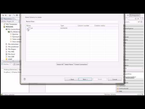 Talend Open Studio: working with database