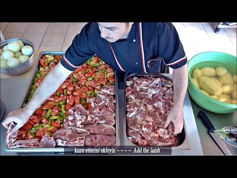 Lamb Kebabs With Vegetables in the oven Turkish Kebab