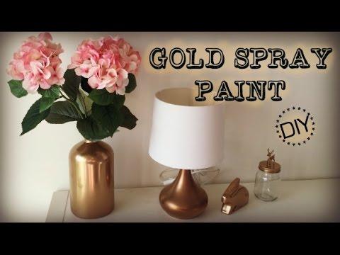 DIY | Gold Spray Paint - Nursery Sneak Peek