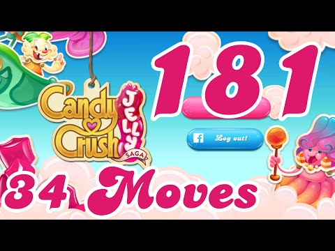 Candy Crush Jelly Saga Level 181 New No Boosters