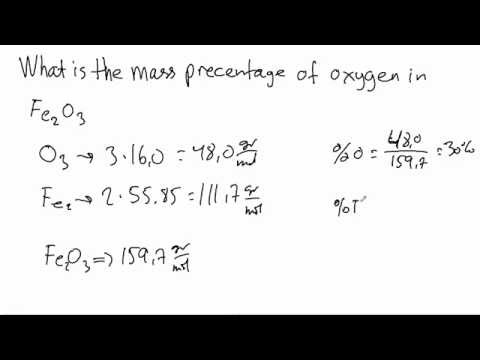 [Example] How to Find the Mass Percent of an Element in a Compound.