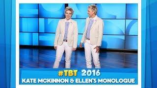 Download #TBT to Ellen & Kate McKinnon's Monologue Video