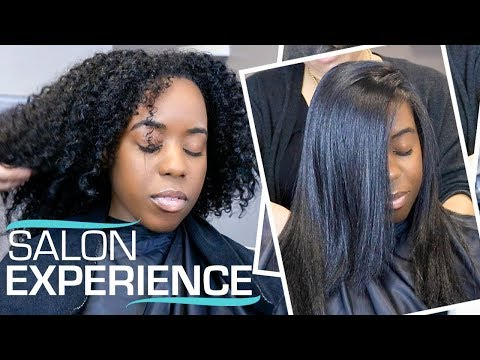 SILK PRESS ON MY NATURAL HAIR FOR THE FIRST TIME | SALON VISIT