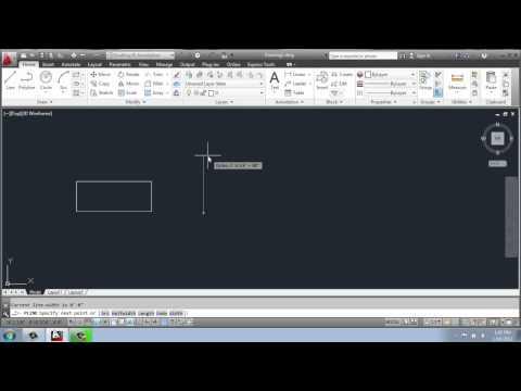 AutoCAD 2013 - 2D Drafting Basics - Part 13 - The Rectangle Tool - Brooke Godfrey