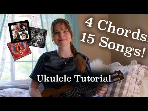 4 Chords 15 Songs! TUTORIAL | Lindsey's Uke