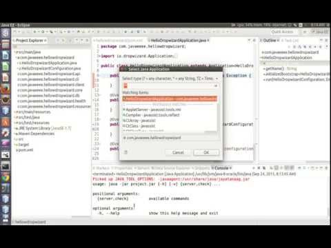 Creating a Dropwizard project from Maven archetype using Eclipse IDE