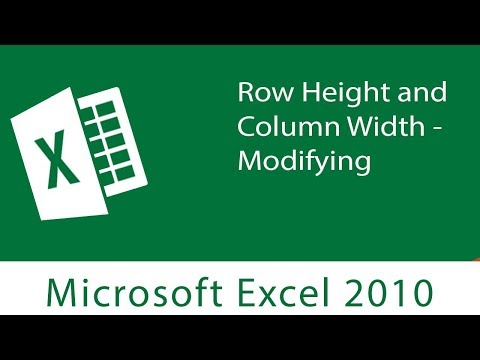Excel : Row Height and Column Width | Modifying both on Excel