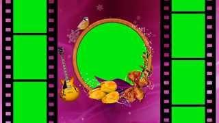 Wedding Love Frame Green Mat Background Video - PakVim net