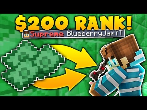 GETTING A $200 RANK on Minecraft SKYBLOCK | Minecraft Skyblock #1
