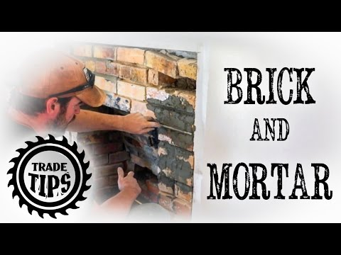 How to repair cracked mortar between Bricks. Brick and Mortar Repairs - Trade Tips