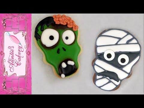 Zombie And Mummy Cookies