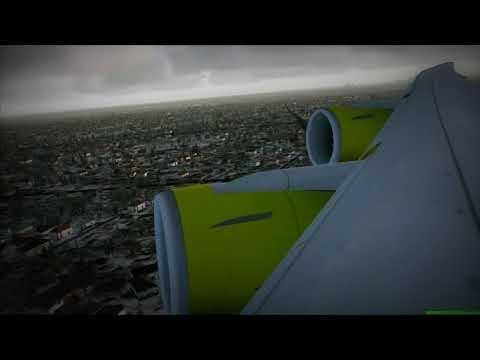 Air Australia 747-8i lands at Toronto