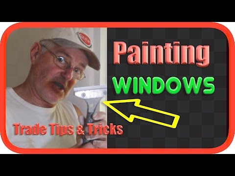 Easily Clean Paint off Window Glass | No Masking Tape | Tips & Tricks
