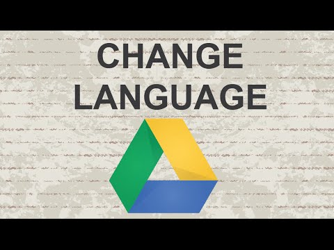 How to change language in Google Drive