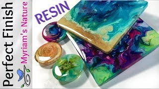 58] RESIN : Getting a DOMED flawless FINISH on PETRI art, pieces from a MOLD or taped Fluid art