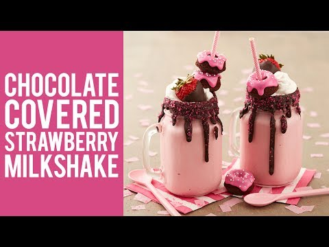 How to Make Chocolate Covered Strawberry Milkshake Recipe