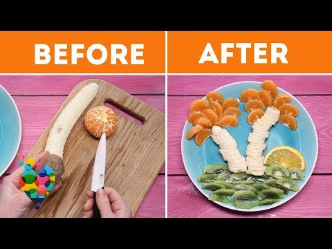 Fruit Palm Tree! Simple and Cute Food Art Decoration Idea For Kids! | A+ hacks