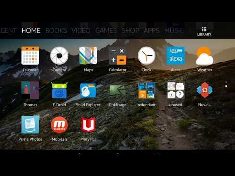 Fire HD 8: Install apps from unknown sources