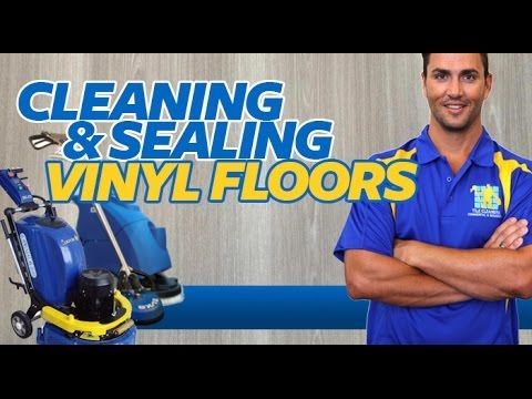 CLEANING AND SEALING VINYL FLOORS