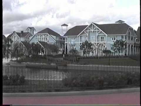 1992 Tram from Epcot's International Gateway to Swan & Dolphin Pre-Boardwalk Resort Disney World