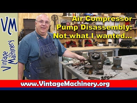 Two Stage Air compressor Pump Disassembly - Bad End Results...