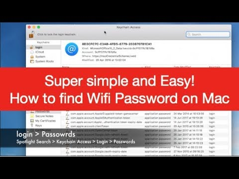 Super simple and easy !!!  How To Find Wifi Password On Mac 