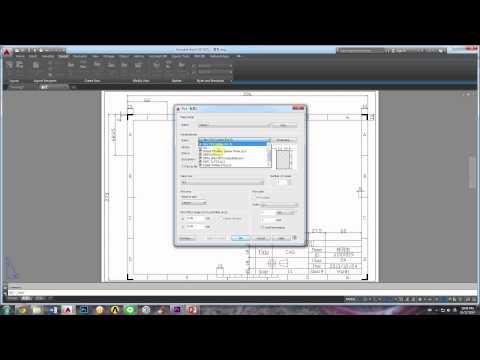 AutoCAD Tutorial - PDF Printer - WOFGA Production