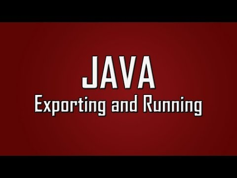 Learn Java - #25 - Exporting and Running a .jar With Batch File