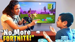Mom tells 11 year old kid he can't play Fortnite ever again...