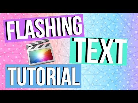 Flashing Colors Text Tutorial in FCPx