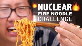 NUCLEAR FIRE NOODLE CHALLENGE - *43% VOMIT ALERT*