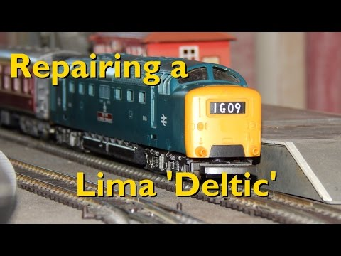 Repairing Second Hand Model Trains: Fixing a Lima Class 55  'Deltic' Locomotive