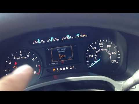 2018 Ford F-150 resetting oil light