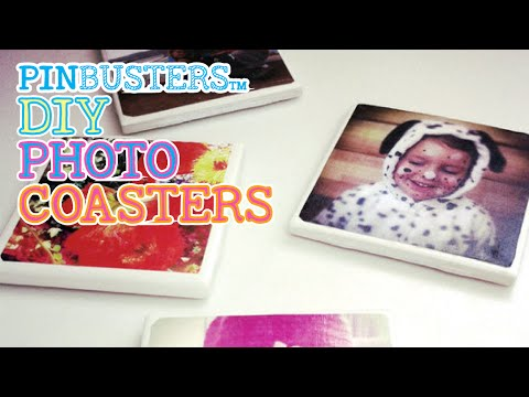 DIY Photo Coasters // HOW HARD ARE THESE TO MAKE?