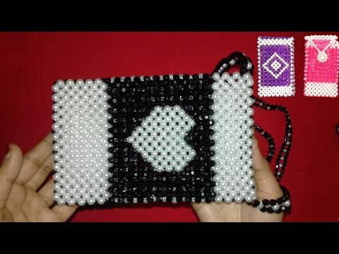 DIY Beaded Purse/Bag | How To Make Crystal Beaded Purse Part-1 || Beaded Mobile Pouch/Cover