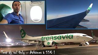 Test de la compagnie low cost Transavia entre Orly et Athènes, vol à 55€ !