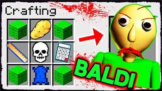 Minecraft Baldi - How to Summon BALDI in a Crafting Table!