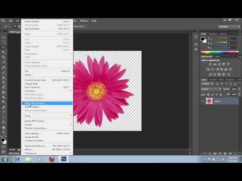 How to Define Brush in Photoshop CS6
