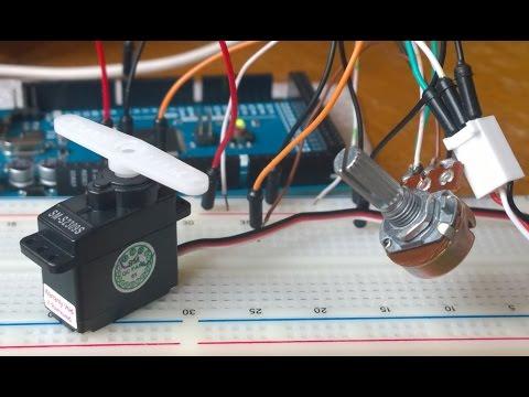 Arduino Servo Motor control using a Potentiometer