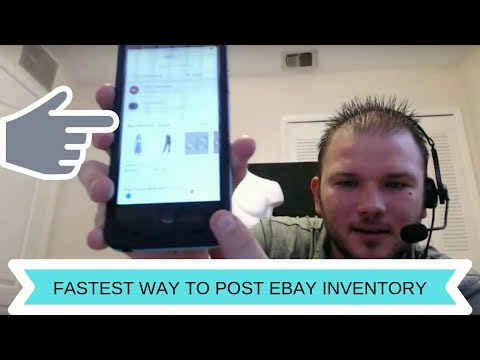 The single fastest way to post inventory on Ebay for sale