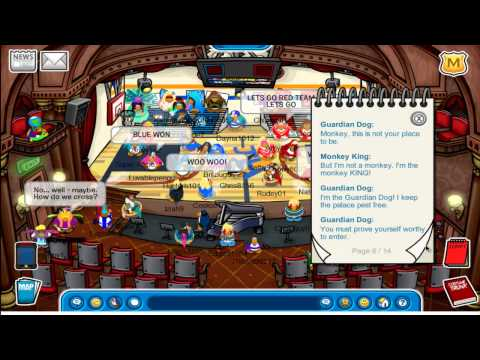 Club Penguin Team Red Vs. Team Blue Stage August 2011 Cheats