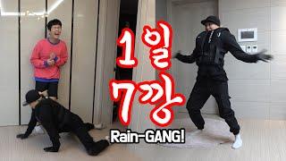 SUB)레전드각! 깡에미친 체대여친의 1일7깡 모음!ㅋㅋㅋ깡중의 깡! 비깡 클라쓰보소ㅋㅋㅋ Legend! Crazy girlfriend on GANG of Rain!