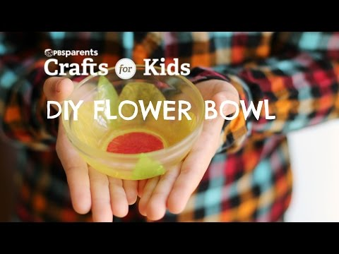 Tissue Paper Flower Bowl | Crafts for Kids | PBS Parents
