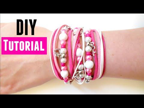 How to Make a Wrap Bracelet - DIY Jewelry making