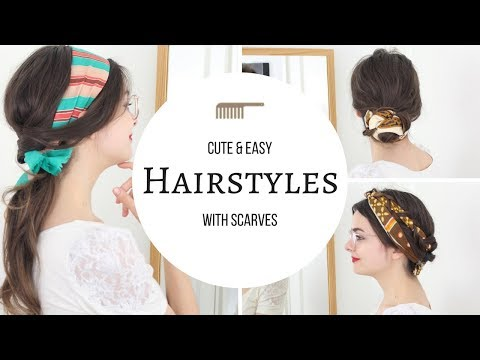Hairstyles With Scarves   Cute & Easy