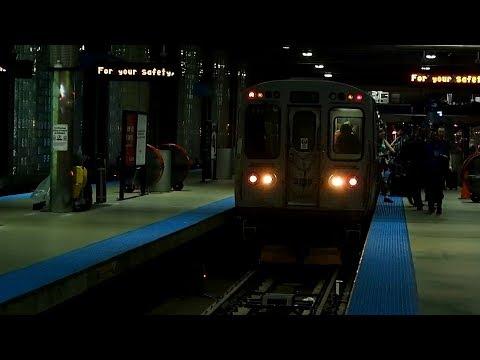 2017/09/04 CTA Blue Line at O'Hare | 【車止め】 シカゴ ブルーライン オヘア