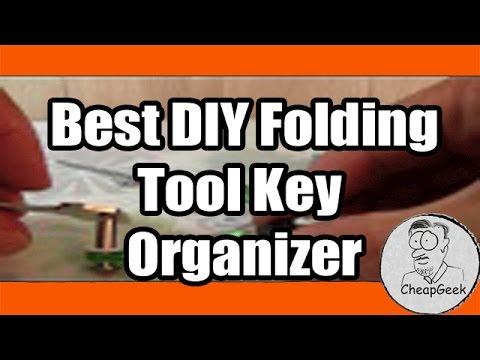 Best DIY Folding Tool Key Organizer- Or-Jack Knife Style Key Holder!