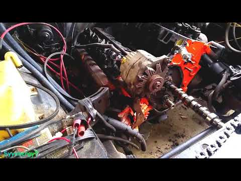 Chevy Cam Removal, Engine in CAR, FRONT GRILL