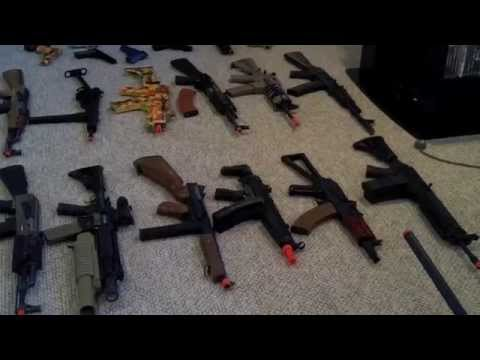 Combative Airsoft Gun Load out