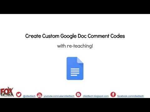 Create Custom Comment Codes in Google Docs with RETEACHING!